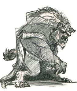 Glen Keane Drawing of the Beast!
